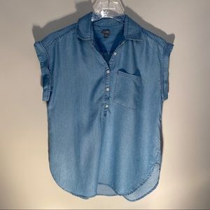 Aerie chambray blouse